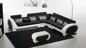 canape d angle noir et blanc canapé d angle cuir au design contemporain okyo mobilier moss