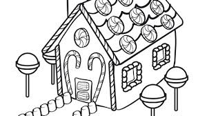 A Fun Filled House Made Of Candy Help Your Grandkids Celebrate The Season With This Free Printable Coloring Page