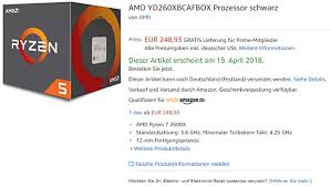 amazon si e ryzen 5 2600x got shortly listed on amazon available april the 19th