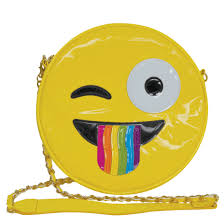 Picture Of Crazy Face Emoji Crossbody Bag