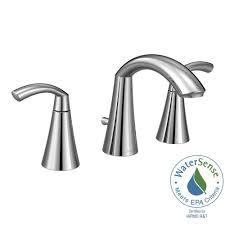 Home Depot Moen Lavatory Faucet by Moen Glyde 8 In Widespread 2 Handle High Arc Bathroom Faucet In
