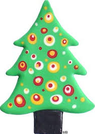 Christmas Tree Cookie Cutter Large With Handle Cookies Retro