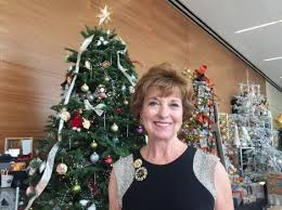 Valle Monte League President Linda Conover At The Community Service Groups 50th Annual Christmas Tree Elegance Fundraiser Which Was Held Santa
