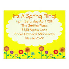 Cute Vintage Spring Theme Party 425x55 Paper Invitation Card