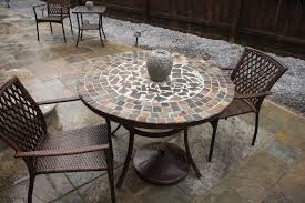 decor of tile top patio table tile top patio table high dining