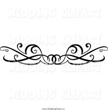 White Wedding Swirl Border