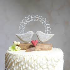 Love Bird Wedding Cake Topper Rustic Wood And Wire Decor