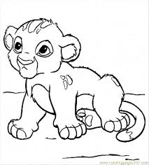 Baby Lion Coloring Pages Printable