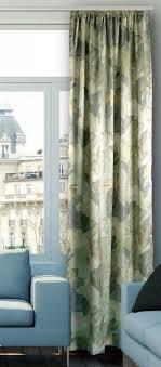 gardine vorhang dekoschal bis 350 cm lang kräuselband satin bedruckt grün massanfertigung