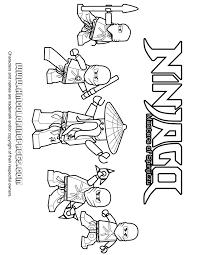 Ninjago Ninja Team Coloring Page