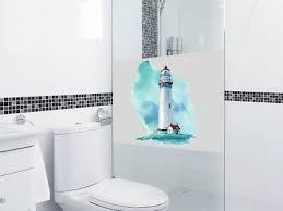 fensterfolie leuchtturm sichtschutz für bad maritim dusche glastür fenster