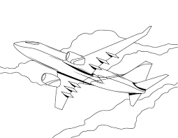 Download Coloring Pages Airplane Page Free Printable For Kids To
