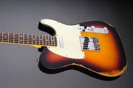 Fender Custom Shop 1963 Relic Telecaster 3 Color Sunburst Electric Guitar