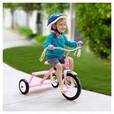 radio flyer classic dual deck tricycle pink target