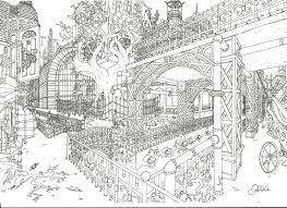 Steampunk City Coloring Page From Category Select 21183 Printable Crafts Of Cartoons Nature Animals Bible And Many More