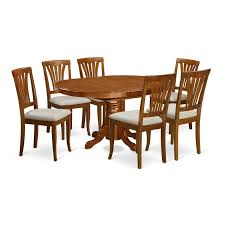 Shop 7-piece Oval Dining Room Table With Leaf And 6 Dining Chairs ... Art Fniture Belmar New Pine Round Ding Table Set With Camden Roundoval Pedestal By American Drew Black Or Mackinaw Oval Single With Leaf Tables Antique And Chairs Timhangtotnet Shop 7piece And 6 Solid Free Delfini Drop Espresso Pallucci Rotmans Amish Miami Two Leaves Of America Harrisburg 18 Inch The Beacon Grand Cayman Lavon W18 Intertional Concepts Sophia 5piece White