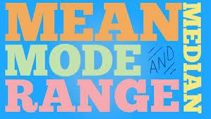 mode median and range median mode range lazy song