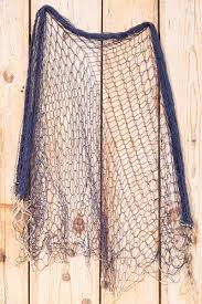 fischernetz deko blau 170x170cm