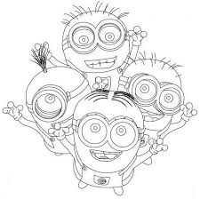 Cute Minions Despicable Me Coloring Pages For Kids Boys And Girls