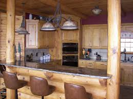 Rustic Log Cabin Kitchen Ideas by Log Cabin With Kitchen And Bathroom Classic Look In The Log
