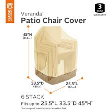 Classic Accessories 78972 Veranda Pebble Heavy Duty Patio Stackable Chair  Cover Patio Seating Set Clearance Clic Veranda Table Chair Cover Large Outdoor Covers For Patio Fniture Fniture Tall Round 4 Chairs Covers For 1000345193 Capturafoto Proven Amazon Com Waterproof And Argos Outdoor Sectional Quality And Classic Accsories Standard Folding Armor Metal Cheapest Rectangular Bar Durable Water Resistant