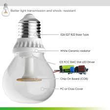 filament led light bulbs c37
