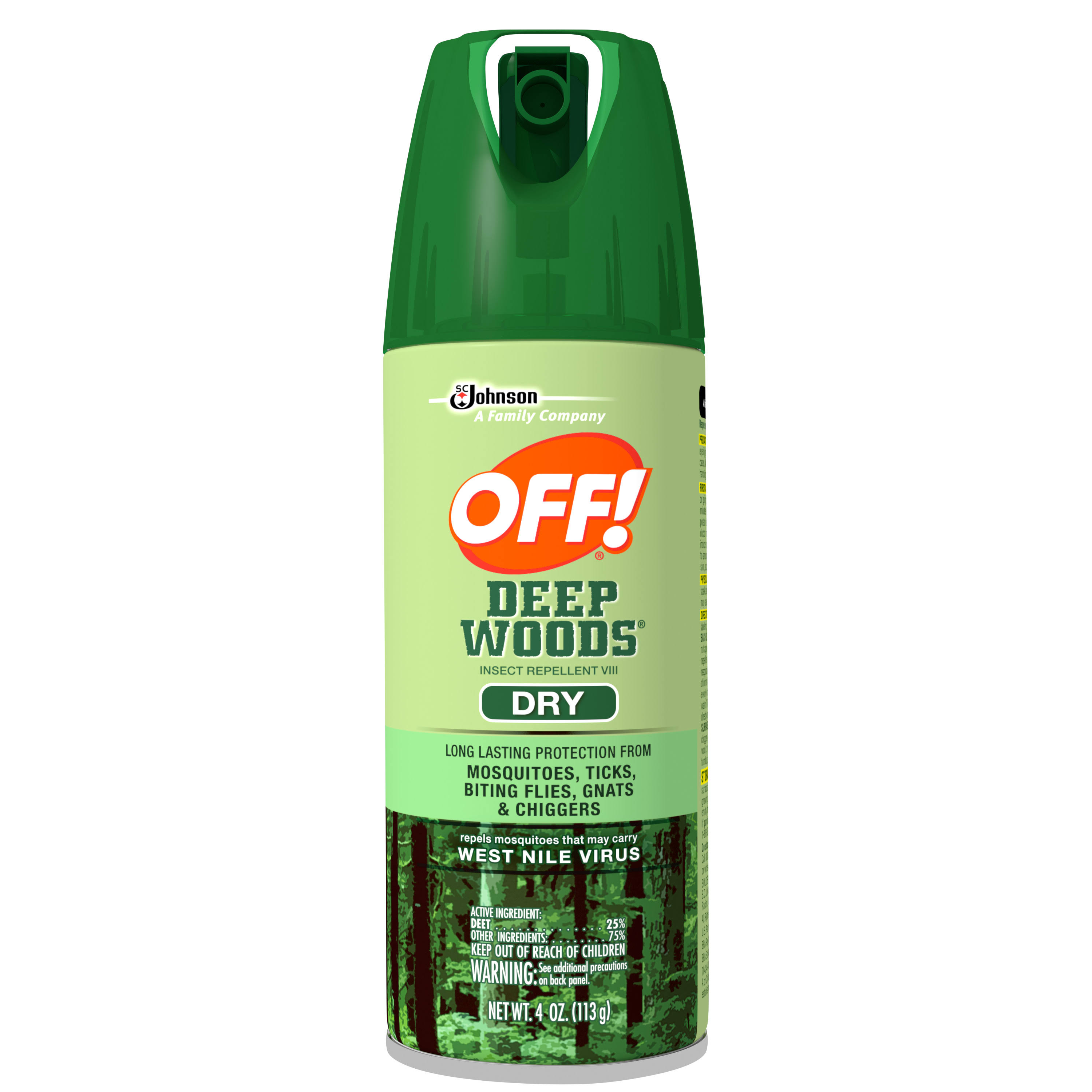 SC Johnson Off! Deep Woods Insect Repellent - Dry, 4oz