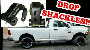Lower Your Cummins Truck With Drop Shackles! - YouTube