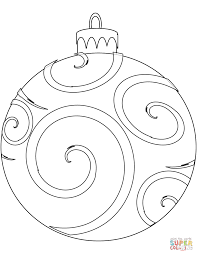 Christmas Ornaments Ornament Coloring Pages Printable