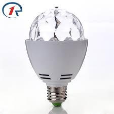 zjright e27 3w led stage light rgb magic rotating