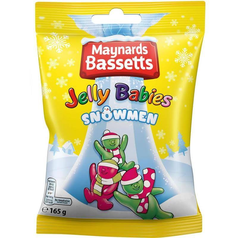 Maynards Bassetts Jelly Babies Snowmen 165g