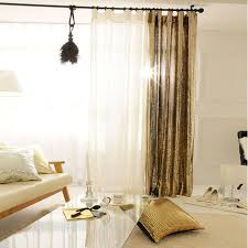 Gold And White Sheer Curtains by Sparkle Gold Squared White Sheer Curtain Voile Panel