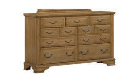 Vaughan Bassett Triple Dresser by Dresser Archives Wenz Home Furniture