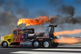 100 Show Semi Trucks SHOCKWAVE And Flash Fire Jet Media Relations