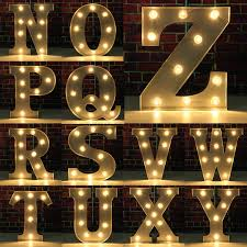 UK Joy Illuminated Carnival Vintage Word Letter Lights