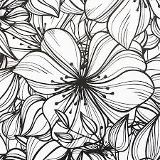 Fabulous Flowers Colouring Book For Grown Ups