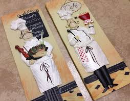 NEW 2pc 3D Fat French Chef Italian Bistro Tuscan WALL PLAQUE Kitchen Decor Home