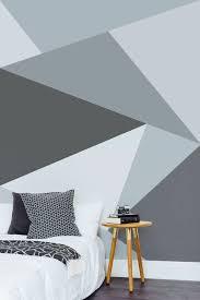 wandgestaltung ideen schlafzimmer wandtapete geometrisches
