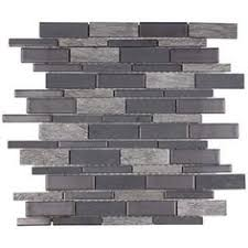 Thinset For Glass Mosaic Tile by Shop Elida Ceramica Laser Sky Glass Mosaic Subway Indoor Only
