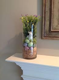 Large Glass Vase Decor Ideas Hurricane Filler For Spring And Easter On The Mantel