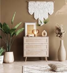 newroom sideboard mila kommode mit schubladen sonoma eiche rattan modern boho skandinavisch highboard anrichte wohnzimmer kaufen otto