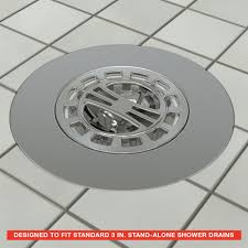 Bathtub Drain Strainer Cover by Hair Catcher Shower Drain Cover In Chrome Danco