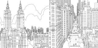 Adult Coloring Books Cities