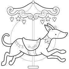 Dog Carousel Animal IMPRIMER Pour Les Enfants Pinterest