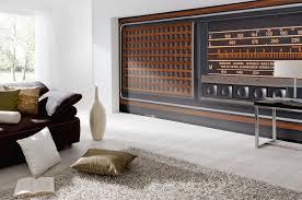 3d fototapete altes radio der 70er jahre