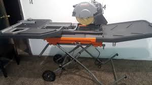 Mk Tile Saw Home Depot by Ridgid 10 Inch Tile Saw 2016 Model 4092 Quick Review Youtube
