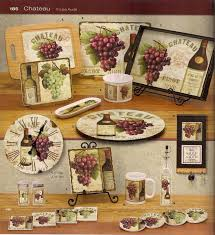 Kitchen Grape Wine Decor