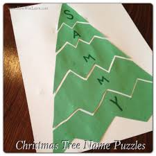 Christmas Tree Books For Preschoolers by Preschool Christmas Projects Name Puzzles Preschool Christmas
