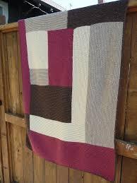 close knit blankets Moderne Log Cabin Blanket