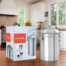 kichly 5 liter inklusive 1 ersatzkohlefilter kompostbehälter
